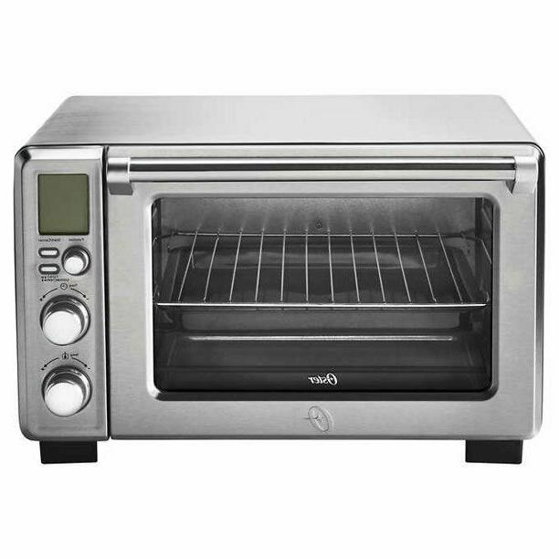 large digital countertop oven brushed stainless steel