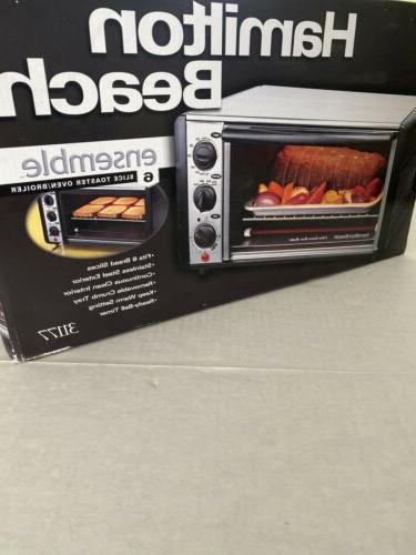 Hamilton Easy Roll Top Slice Toaster Oven Broiler 31177 Bake,