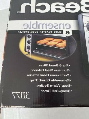 Hamilton Beach Roll Slice Toaster Oven Broiler 31177 Bake,