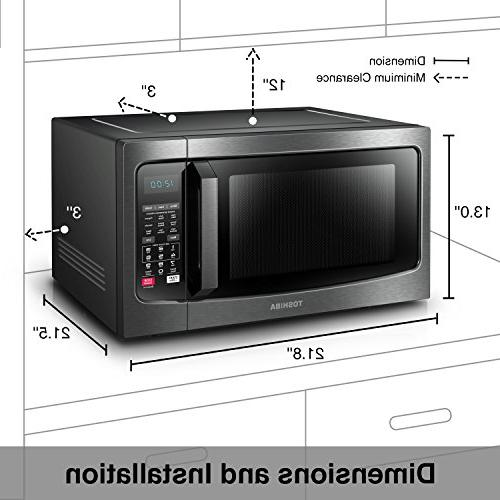 Toshiba Microwave Oven with Function 1.5 Cu.ft Black