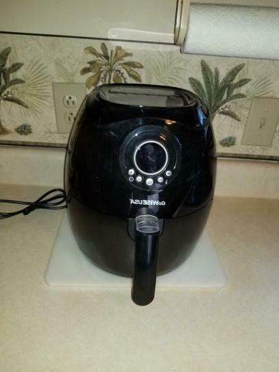electric air fryer w button