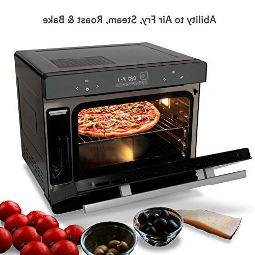 Electric Countertop Multifunction Oven - 1800W Smart Digital Toaster Pan, Rack Door - NutriChef