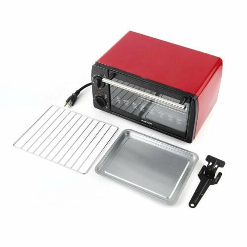 """Toaster 4 Slice Fits 9"""" White Kitchen Bake Broil and Toast 1000W BR"""