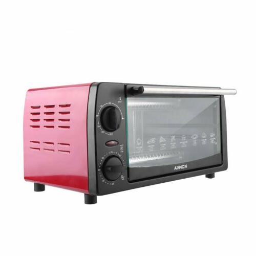 Toaster Oven 4 Fits Kitchen Toast 1000W