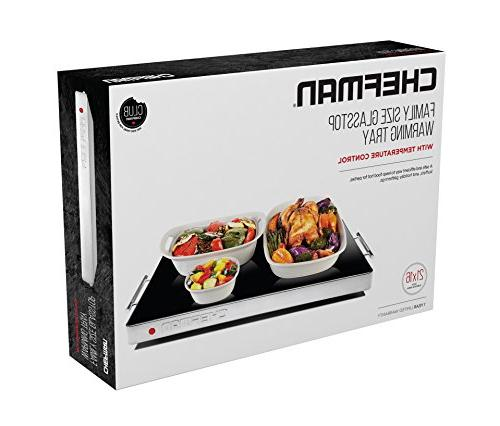 """Chefman Warming with Adjustable Control, Perfect For Parties, Events, and Home Dinners, 21"""" x Keeps Food Hot"""