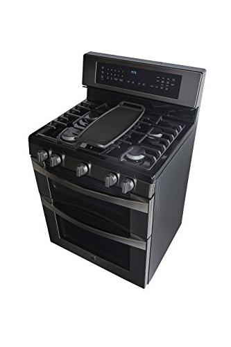 Kenmore Elite ft. Double Oven Gas Range w/Convection Cooking BlackStainless, includes hookup 02276037