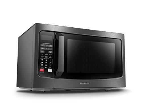 Toshiba EM131A5C-BS with Smart Easy Clean Interior, Mode and Sound Cu.ft, Steel