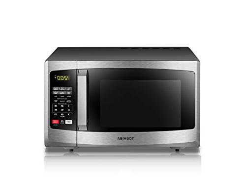 Toshiba Microwave Oven with Sound ECO Mode and LED 0.9 ft, Steel