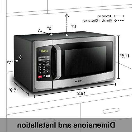 Toshiba EM925A5A-SS Microwave with On/Off ECO Mode and 0.9 cu. Steel