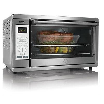 extra large convection countertop oven digital controls
