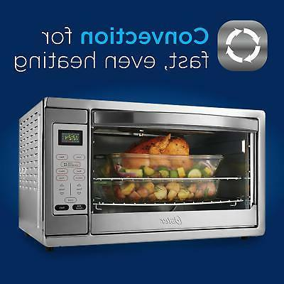 Oster Large Digital Countertop Convection Oven, Steel