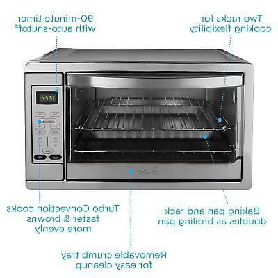 Oster Extra Large Digital Countertop Oven, Stainless Steel