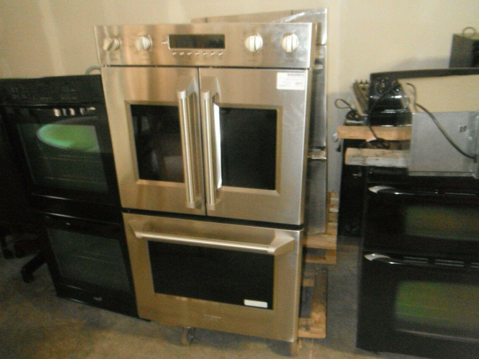g e double oven with french door