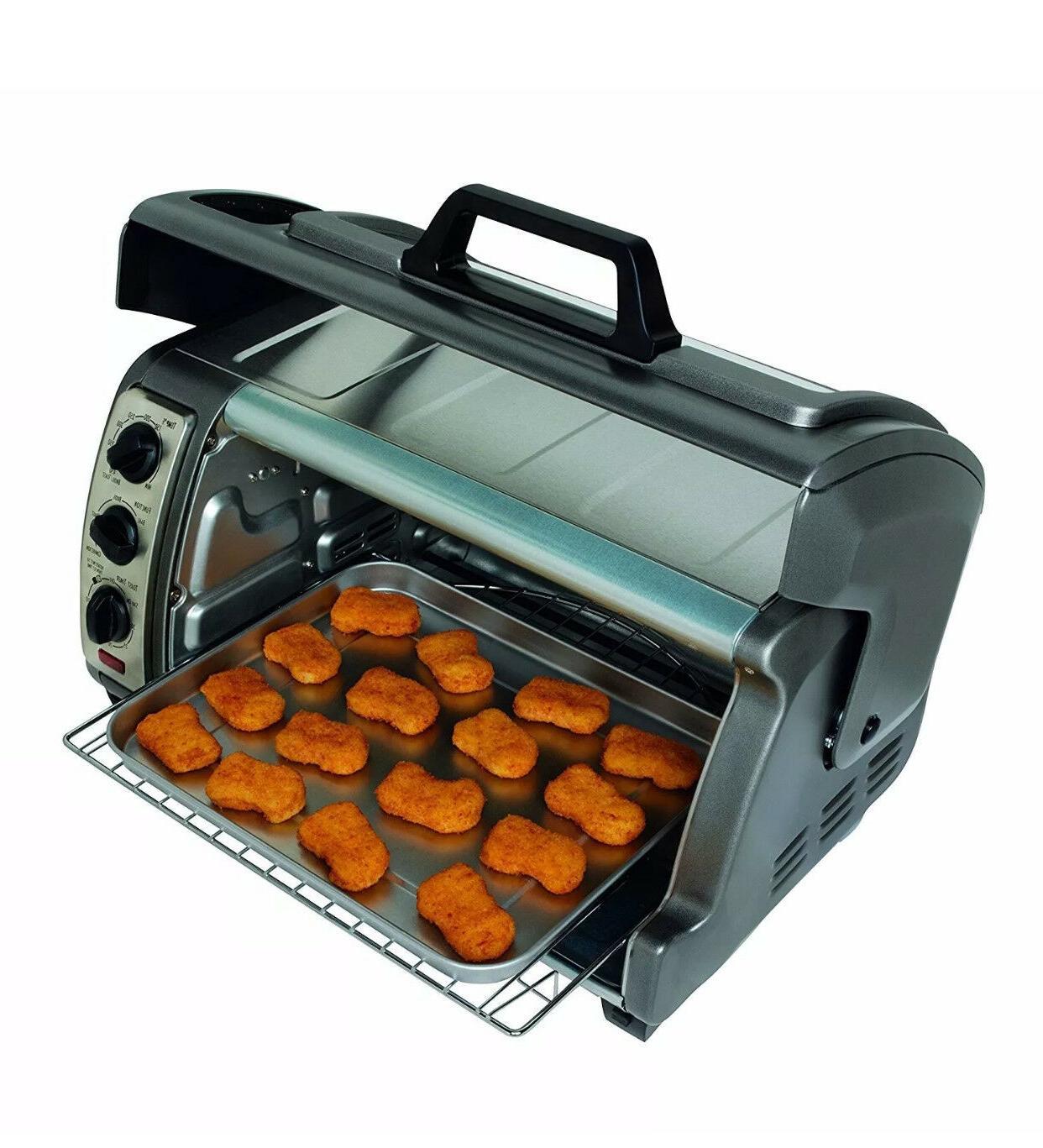 Hamilton Beach reach Toaster with RollTop Door