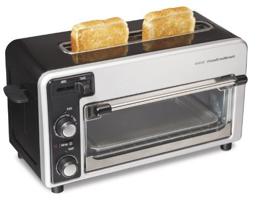 HB Two Toaster Blk Silve