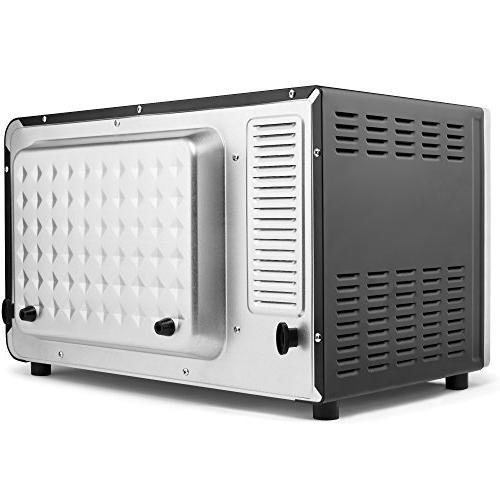 ConvectionWorks® Oven Set, 9-Slice Convection Oven Toaster Cutting Board Watt, Steel,