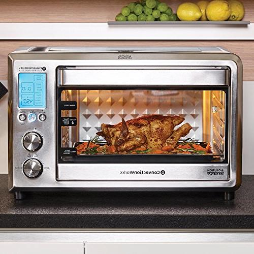 ConvectionWorks® Countertop Oven Set, Convection Oven Toaster Cutting Board 1500 Watt,