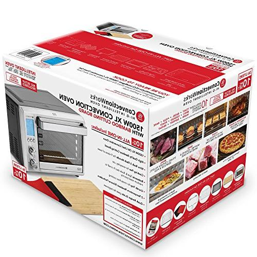 ConvectionWorks® Hi-Q Countertop Oven Convection Oven Toaster Cutting Watt, Teflon-free