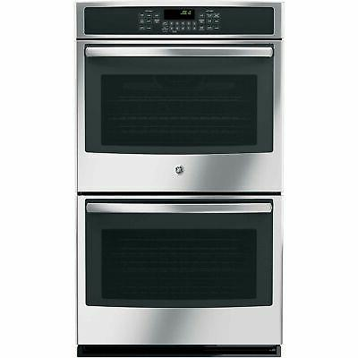 """GE JT5500SFSS 30"""" Stainless Steel Electric Double Wall Oven"""