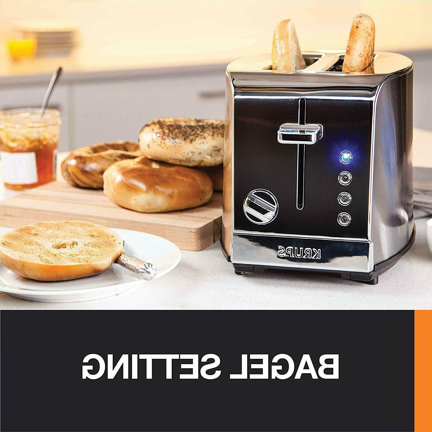 KRUPS KH732D50 Stainless Steel Toaster, 5 Functions with