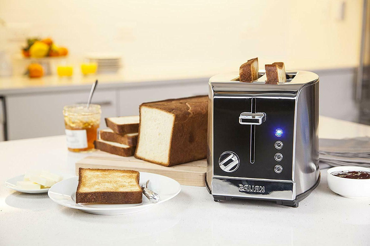 KRUPS KH732D50 2-Slice Stainless Steel Toaster, 5 Functions with Cancel