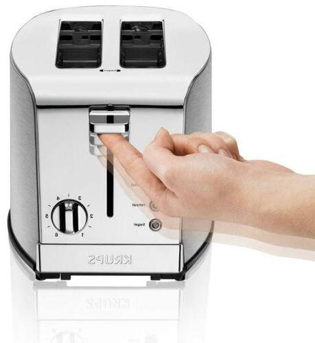 KRUPS KH732D50 toaster Stainless Steel