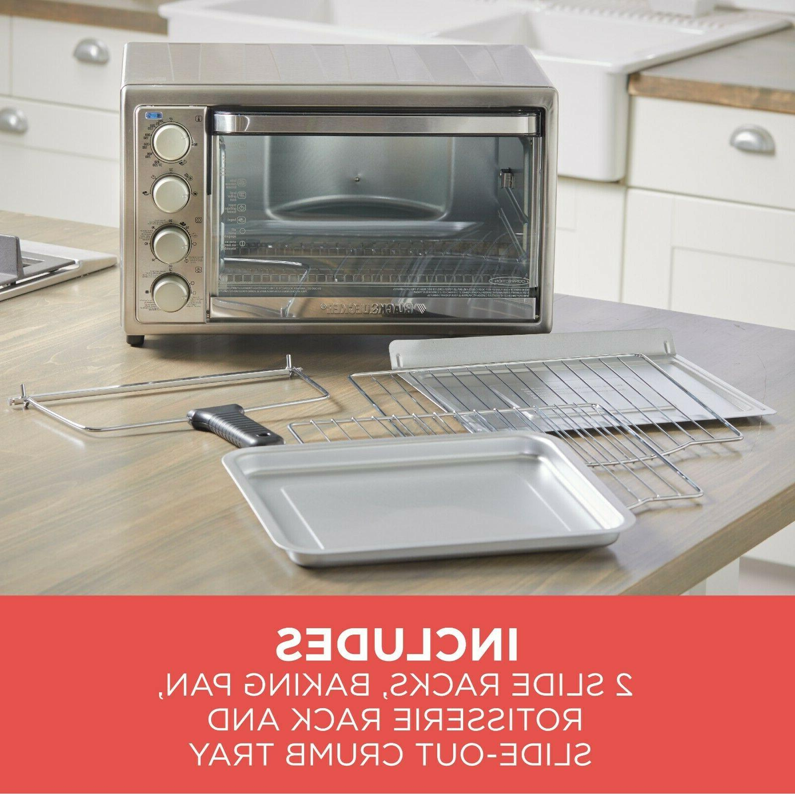 Kitchen Rotisserie Convection Toaster Oven Stainless