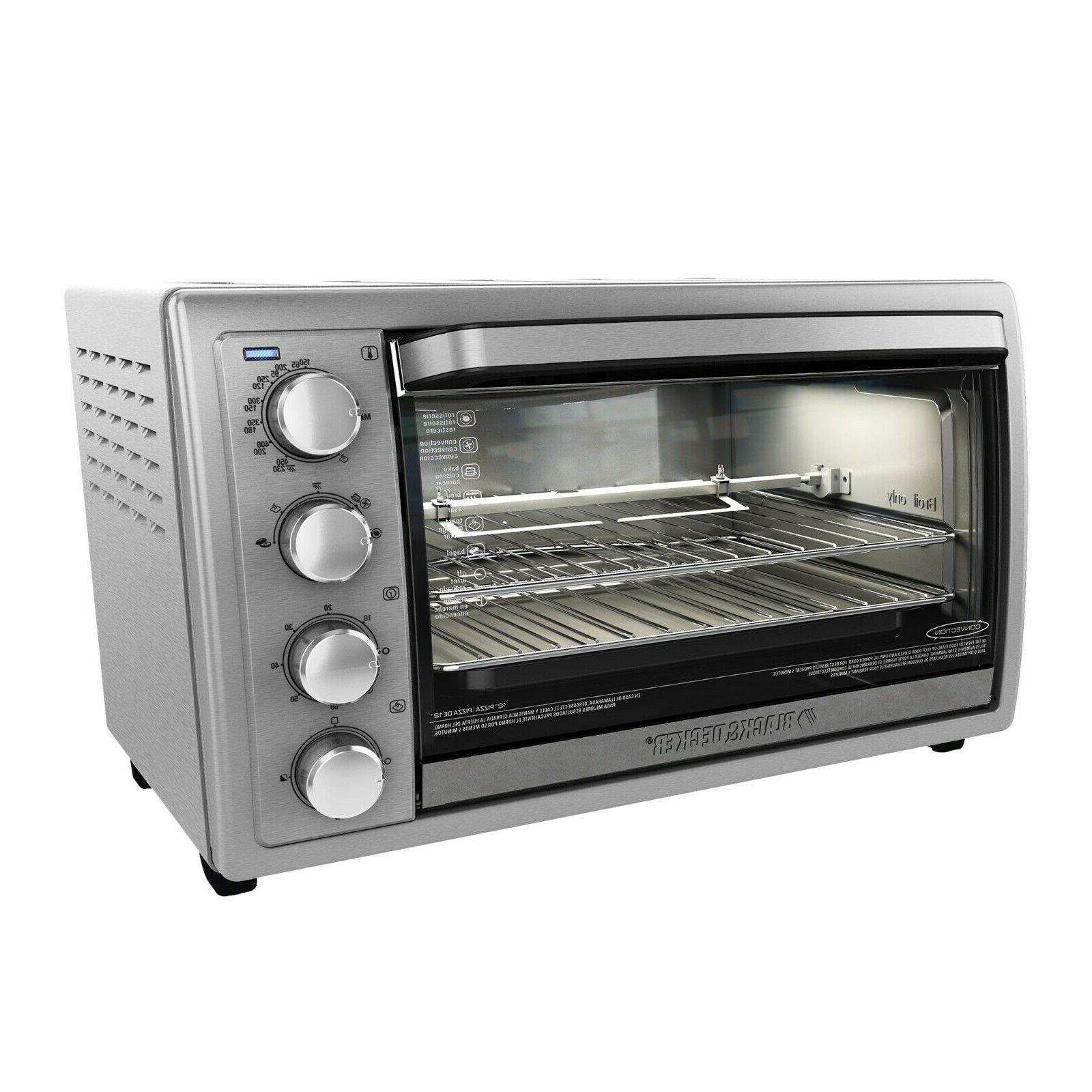 kitchen rotisserie convection countertop toaster oven stainl