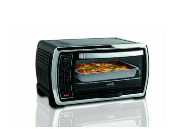 Large Capacity Countertop 6-Slice Digital Convection Black P