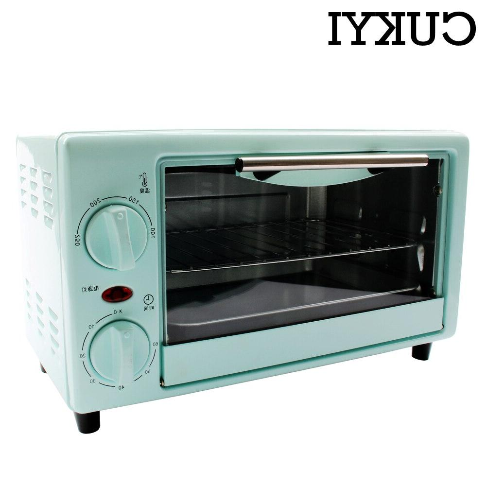 CUKYI mini electric pizza and bread <font><b>toaster</b></font> grill baking household appliances