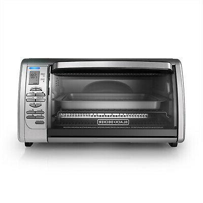New BLACK+DECKER Countertop Toaster Oven Steel