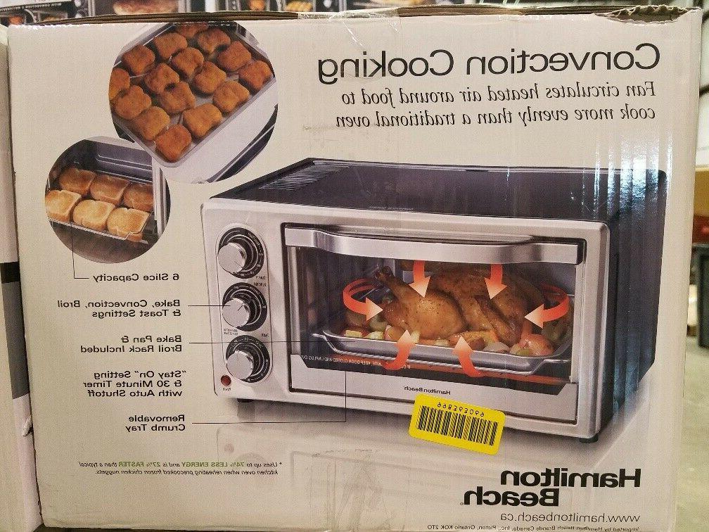 New Hamilton Convection 6 Slice Toaster 31512