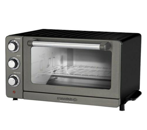 new convection toaster pizza oven black stainless