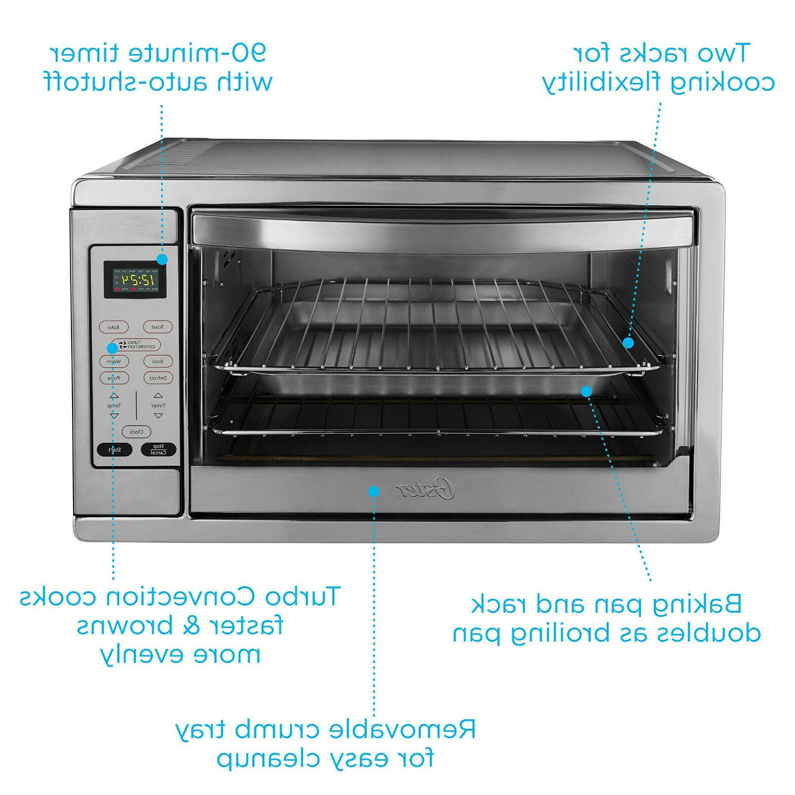 Oster Extra Countertop Convection Oven, Stainless Steel