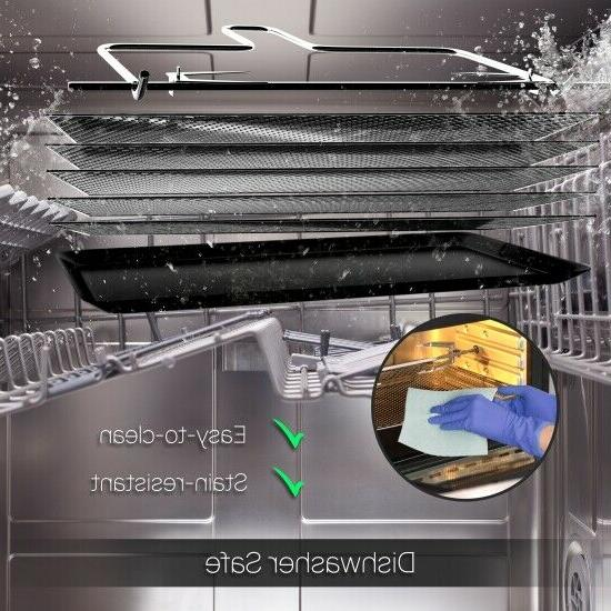 NutriChef Fryer Oven Dehydrator Rotisserie, High Power