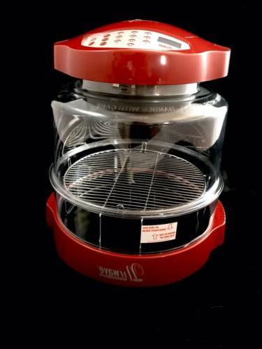 pro infrared oven cinnamon red model 20337
