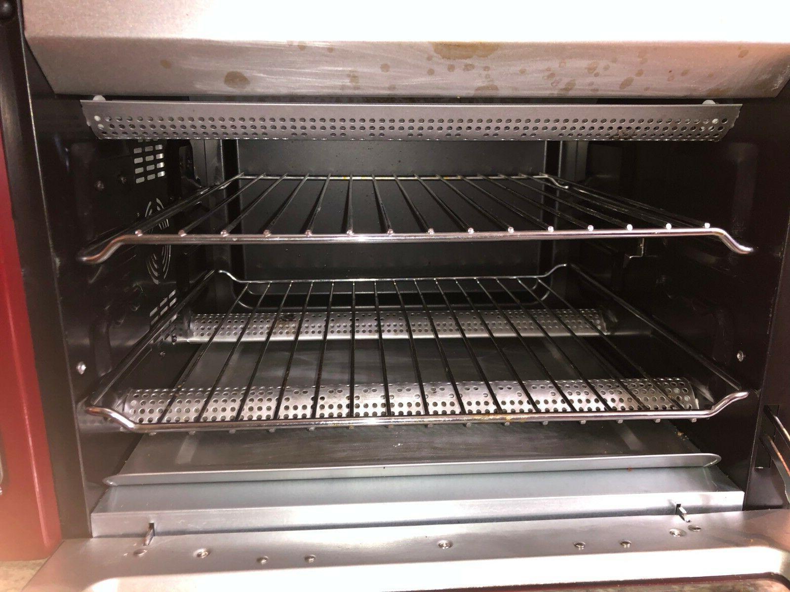 Red KitchenAid Toaster Oven