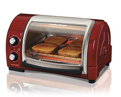 red easy reach toaster oven