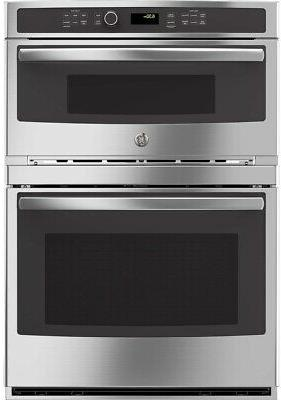 self cleaning microwave wall oven combo stainless