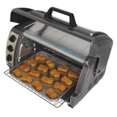 Hamilton Beach Easy Reach Toaster Oven with Metallic