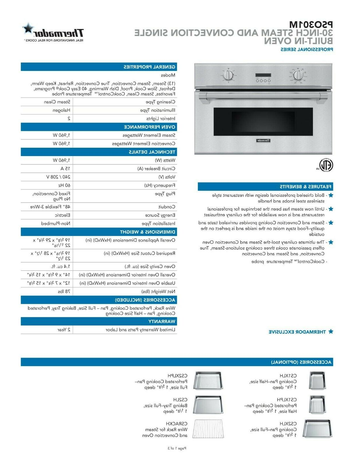 """Thermador SS 30"""" Built-In"""