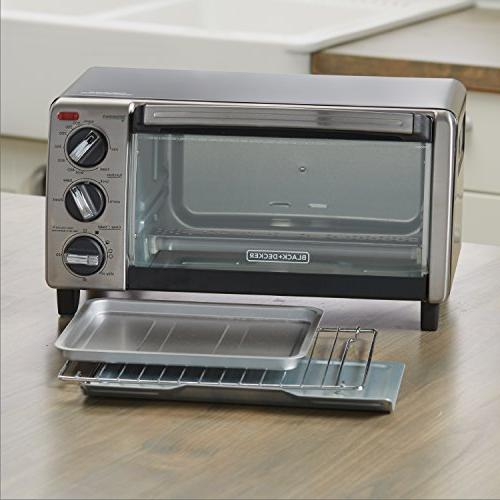 BLACK+DECKER 4-Slice Oven with Natural TO1750SB