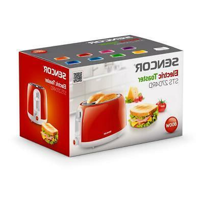 Sencor Toaster Bread Bagel Defrost Slice Shut Off Red