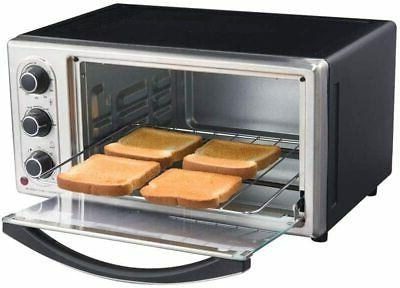 Toaster Slice Stainless Steel Black Family-Size
