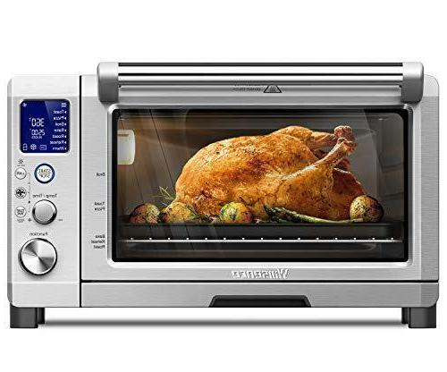 Toaster Oven Willsence Toaster Oven Display and Element 4 Slice Toaster with 8 Functions, Stainless