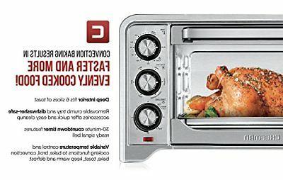 Chefman Toaster Oven Convection Steel 6 Slice Cooking Bake