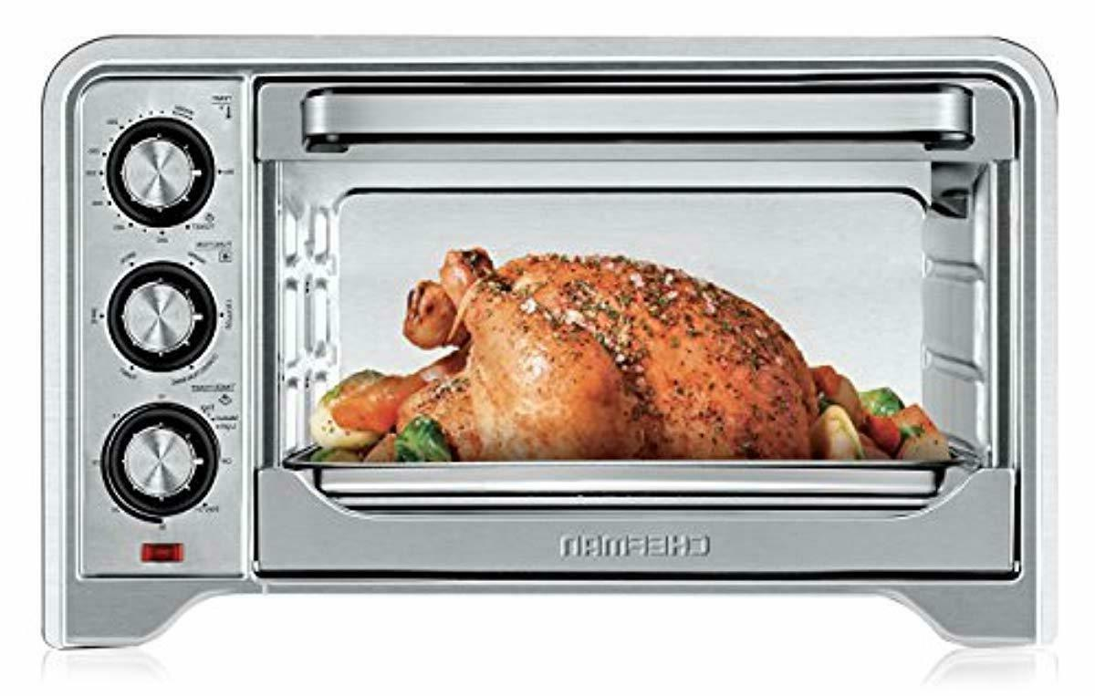 toaster oven countertop convection stainless steel temperatu