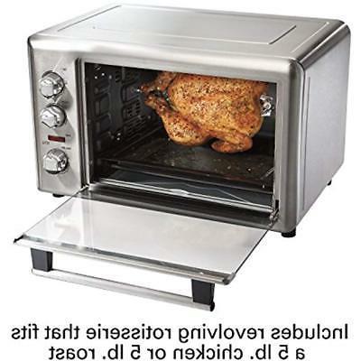 Toaster Ovens Rotisserie Steel