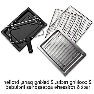 Toaster Ovens Rotisserie Oven, Steel