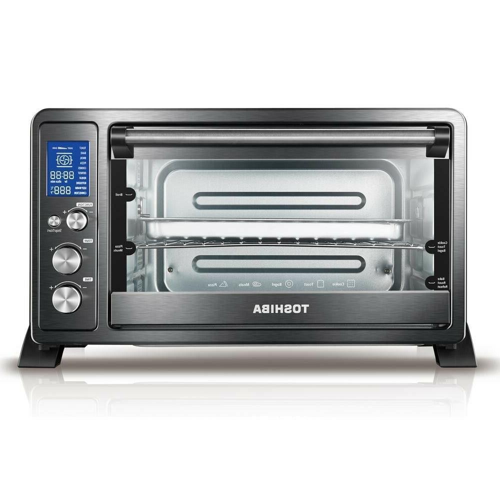 toshiba digital 6 slice black convection toaster